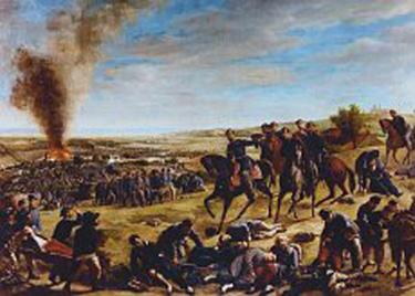 Bataille de castelfidardo tableau conservé a l hotel de ville de Castelfidardo